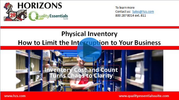 Physical inventory - Limit Interruption